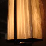 Lámpara pendiente de la cortina blanca del ópalo de la tela de la sala de conferencias de la vendimia