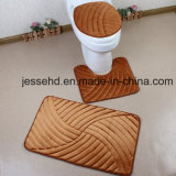 Waschbares und bequemes Badezimmer-Fußboden-Wolldecke-Set des Flanell-3PCS