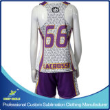 Lacrosse Sports Clothes di Sublimation Girl su ordinazione con Race Back Reversibles e Short