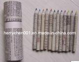半分サイズはリサイクルした無駄にされたペーパー12カラー鉛筆(SKY-810)を