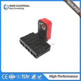 Caixa de fusíveis de aros elétricos automotivos e suporte de fusível