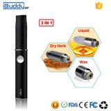 Il mp di Ibuddy ha personalizzato 3 in 1 vaporizzatore asciutto Ecigarette della cera dell'erba