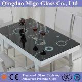 De aangemaakte Bovenkant van de Lijst van het Glas voor Koffie/het Dineren/van de Conferentie Lijst