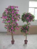 Alta qualità del circuito di collegamento naturale delle piante artificiali con i fiori Westeria Gu-SL-130-840-45mix