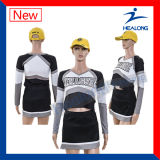 Uniformes personalizados personalizados do Cheerleading do Sublimation com alta qualidade