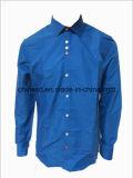 Camisa de algodón del color sólido de los hombres S1367