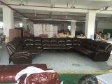 大きいアラビアの居間のホーム家具(G17319)のためのUの形の革リクライニングチェアのソファー
