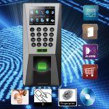 Controle de acesso biométrico F18 da impressão digital da tela da cor de TFT LCD