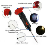 Hot Sale Multi Portable Screwdriver with LED Torch and Hammer
