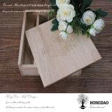 Doos van het Album van de Foto van Hongdao de Houten voor Huwelijk Gift_D