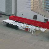 3 Wellen 40 Tonnen-Skelett-halb Schlussteil 40 Fuß Flachbett-Schlussteil-