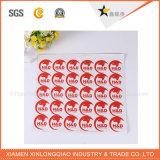 Papel de vinilo impreso Impresora de etiquetas de impresión autoadhesivo de PVC etiqueta engomada transparente