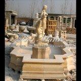 Fonte de água de pedra de mármore Mf-1014 do jardim
