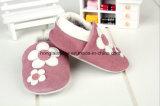 Pattern青い女性: 革赤ん坊靴