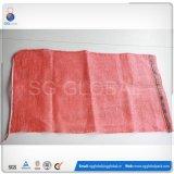 Saco vermelho do engranzamento com impressão para cebolas de empacotamento