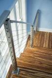 Pasamano de la escalera del acero inoxidable, barandillas para el balcón al aire libre