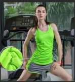 200g 88% Nylon+12%のスパンデックスの連続したスポーツのカスタムトレーニングのベストの女性