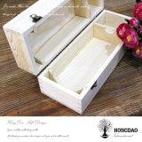 Rectángulo de empaquetado del vino de madera de encargo de Hongdao con la insignia de encargo Wholesale_L