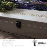 Manufatura de madeira da venda por atacado da caixa de embalagem do vinho de Hongdao