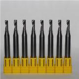 Moinhos de extremidade da flauta da espiral uma de Zcc únicos para o processamento de alumínio