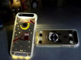 高品質TPUのLEDをiPhone 5のSamsung S6 S7の移動式カバーのためのフラッシュ軽い箱と呼出す物質的な裏表紙の電話