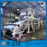 Base de papel higiénico de la alta exactitud que hace máquina el papel usado y la pulpa de madera