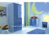 Ottawa-blauer hoher Glanz 3 Stück-Kind-Schlafzimmer-Möbel-Set