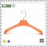 店の表示のためのカスタムオレンジプラスチックハンガーのスーツのハンガー