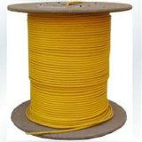 Cable de fibra óptica redondo del solo modo de 4 bases