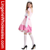 Erwachsene rosafarbene Prinzessin Cosplay Costume Jeweled Dress