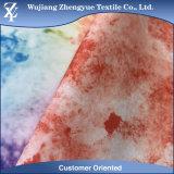 La tarjeta colorida del estiramiento de la manera de la impresión 4 del poliester pone en cortocircuito la tela de la ropa