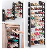 [4-تير] حذاء منظّم تخزين أرضية يقف من 12 زوج بلاستيكيّة