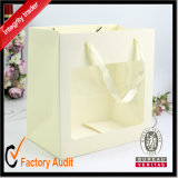 工場はカスタム方法美しい光沢紙のショッピング・バッグ、安い白書袋を卸し売りする