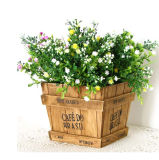 Decoration를 위한 Flower Pot Shape를 가진 나무로 되는 Box