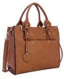 Sacchetto Pocket di cuoio di affari della borsa delle donne dell'unità di elaborazione di alta qualità doppio