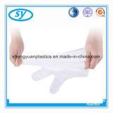 Gant médical de paires de LDPE de HDPE plié par PE en plastique remplaçable