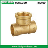 Qualité personnalisée polissant le té modifié d'égale de laiton (AV-BF-8010)
