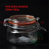 recipiente de armazenamento de vidro do alimento 230ml com tampa