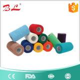 Bandage auto-adhésif élastique non tissé facile de déchirure de main
