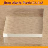 Plástico de acrílico transparente superficial sólido de la hoja PMMA