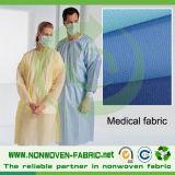 Tissu non-tissé de pp pour la robe chirurgicale remplaçable de pp