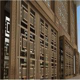 Plaques plaquées de cuivre décoratives d'acier inoxydable de couleur pour la porte en acier