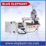 Machines en bois de découpage de commande numérique par ordinateur d'Ele-1325 2spindles 3D pour le découpage du bois
