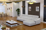 Insieme di cuoio italiano del sofà, sofà d'angolo, fabbrica di cuoio del sofà (608)