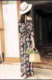 Preiswertes Form-Blumen-Druck-Frauen-Kleid-reizvolle Dame Minikleid für Frauen-Backless Kleider