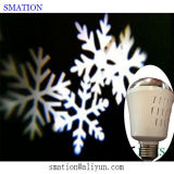 luci laser dell'interno del fiocco di neve della lampadina della lampada di proiezione 3D LED Lazor