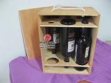 Madera Vino Caja para regalo, seis botellas de vino de madera Caja
