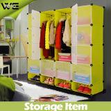 O grande espaço DIY dirige o Wardrobe plástico do quarto do armazenamento
