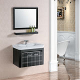 棚とのシンプルな設計のステンレス鋼の壁の浴室の虚栄心