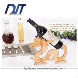 Única cremalheira de bambu popular ou ofício do vinho vermelho do frasco